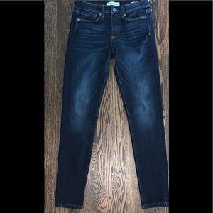 Banana Republic High Rise Soft DK Wash Skinny Jean